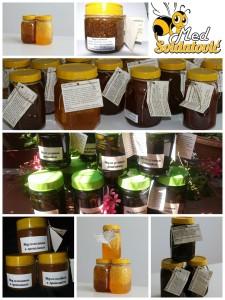Različite mešavine meda i lekovitog bilja