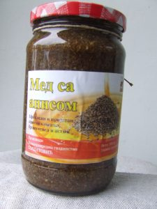 Preparat na bazi mešavine meda sa anisom