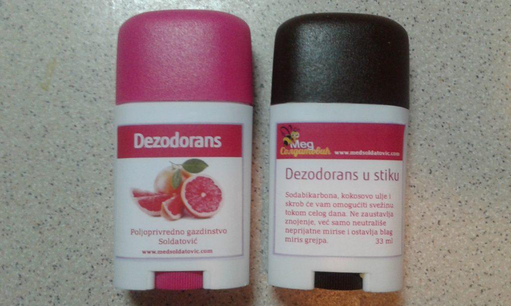 Dezodorans u stiku od voska, sode bikarbone i kokosovog ulja