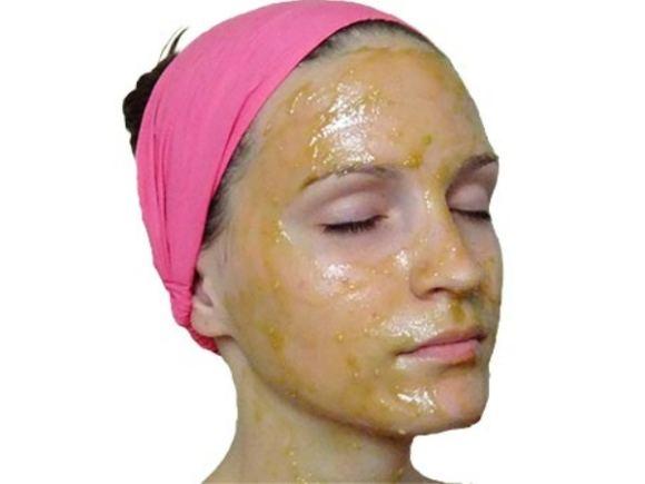 Maska za lice od meda
