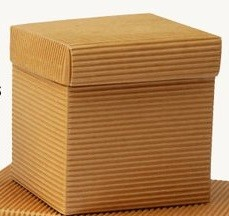Kocka od rebrastog natur kartona (8x8) namenjena kozmetičkim proizvodima